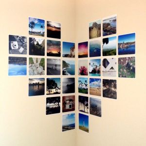 Corner-wall-heart-with-photo-prints